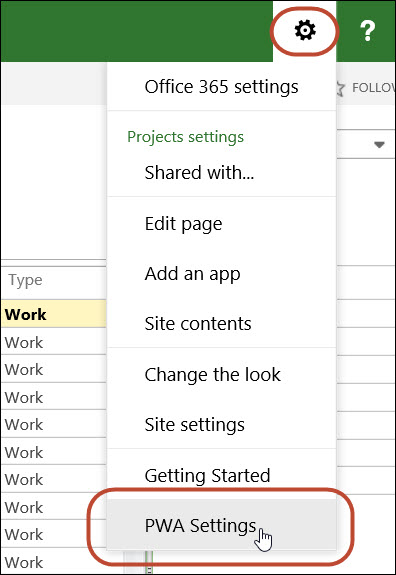 Figure 4: Click the Settings menu
