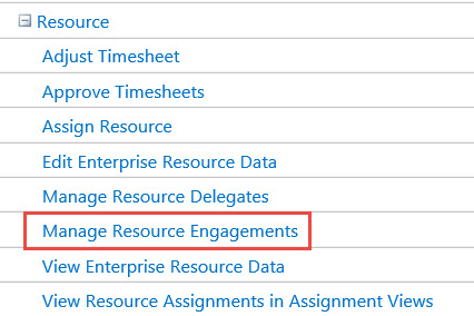 Figure 11: Category Permission - Manage Resource Engagements